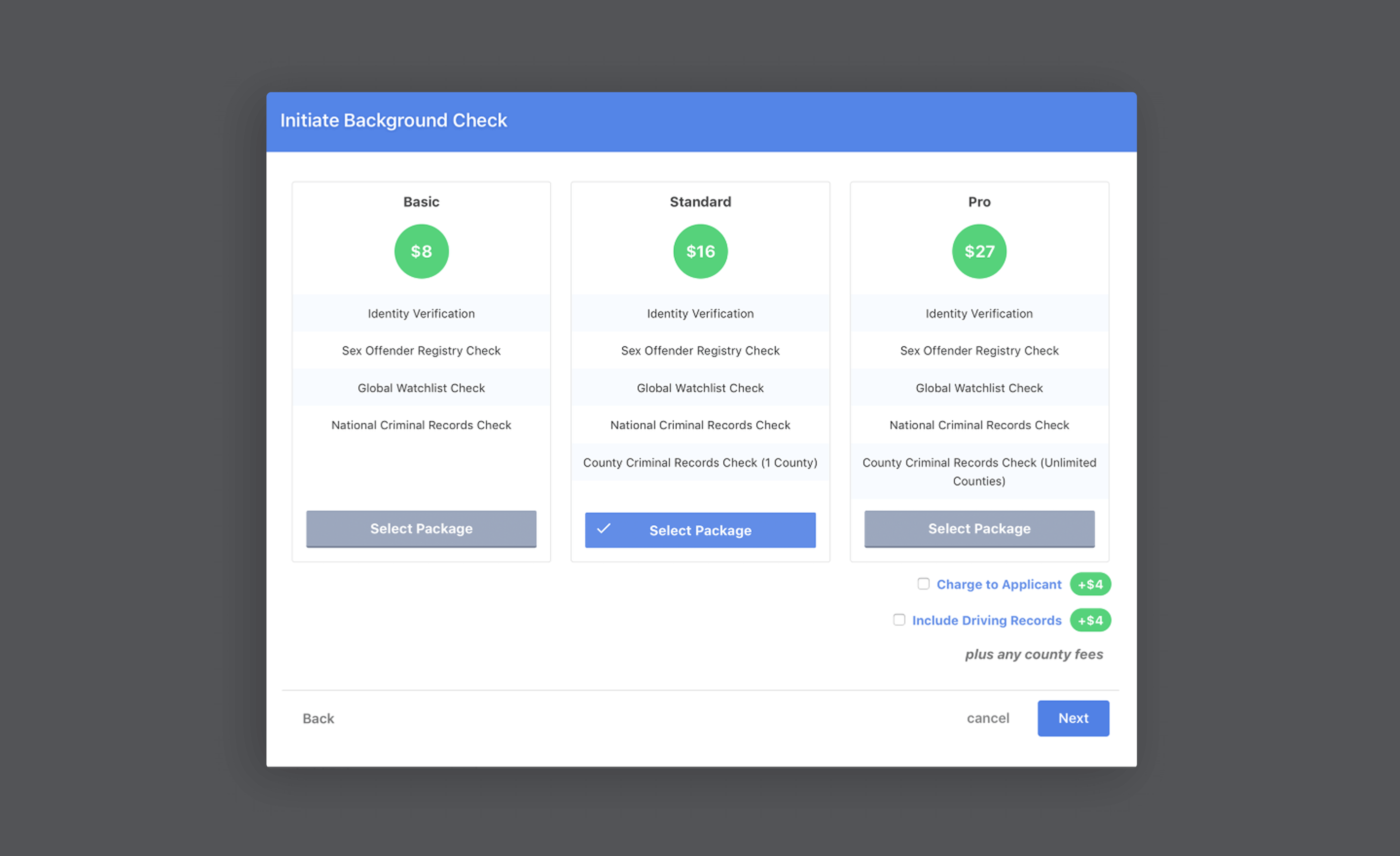 Checkr integration screenshot 1